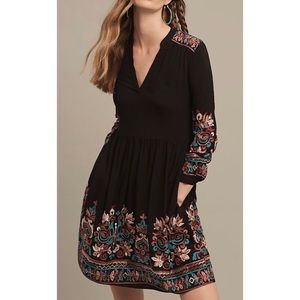 ANTHROPOLOGIE Flores's Avery Embroidered Dress